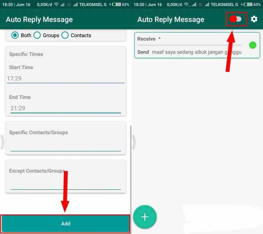 Cara Gampang Membuat Pesan Auto Reply WhatsappTanpa Root di Android 6