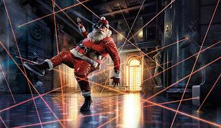 bank ausrauben Weihnachtsmann