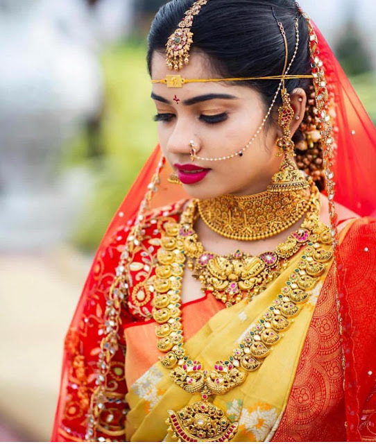 South Indian Brides Heavy Temple Jewellery