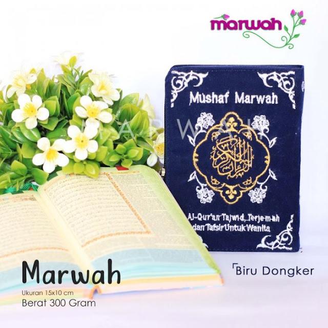 Alquran Wanita Marwah Biru Dongker