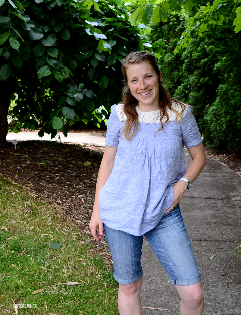 sewing pattern review of mccalls m7544 linen shirt