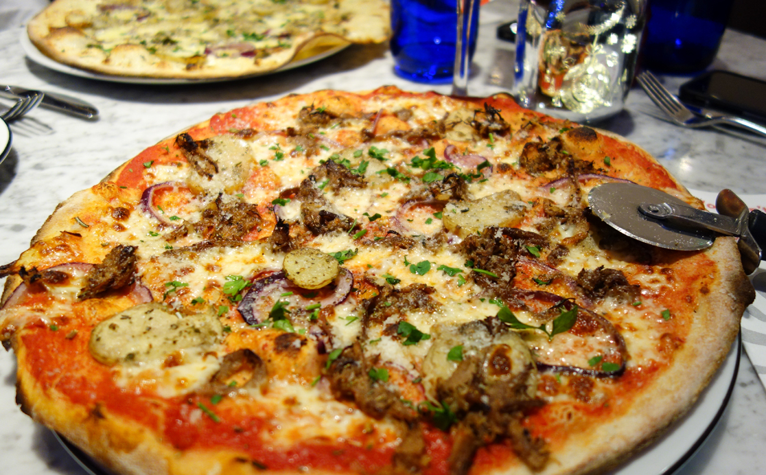 Pulled Beef and Horseradish Pizza