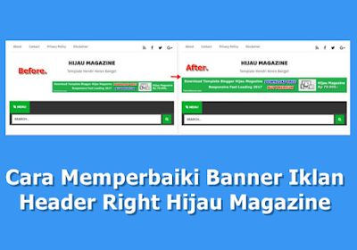 Cara Memperbaiki Banner Iklan Header Right Hijau Magazine