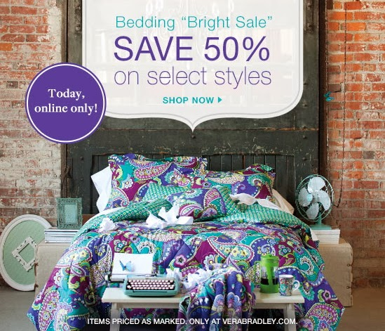 Vera Bradley 50% Off Comforters & Pillows - Expires Today ...