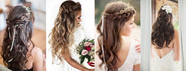 penteado semi preso para noivas