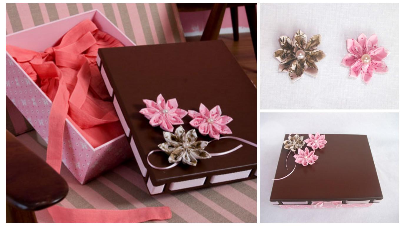 Aprende c mo decorar cajas de regalo con flores de tela - Como decorar una caja de madera ...