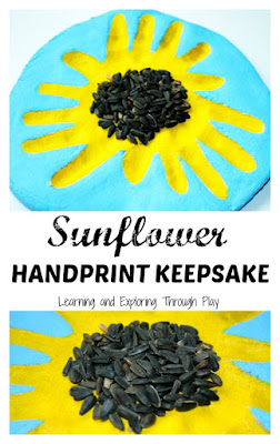 Sunflower Handprint Keepsake Craft using Salt Dough