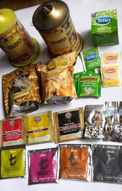 tea, Basilur, Tetley, Twinings, Lipton, The Coffee Bean & Tea Leaf,Dilmah.