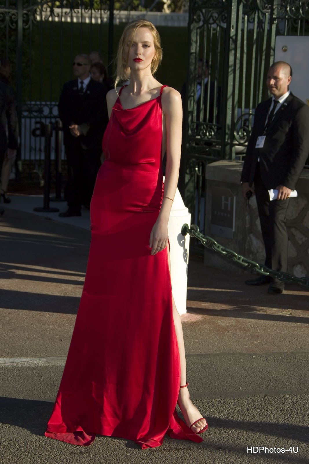 HQ Photos of Daria Strokous in Hot Red Dress At Amfar S 23rd Cinema Against Aids Gala In Antibes