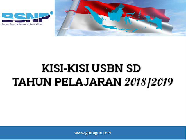Kisi-Kisi USBN SD Tahun 2018/2019