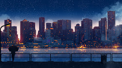 scenery anime buildings silhouette 8k hd 4k ultra uhdpaper