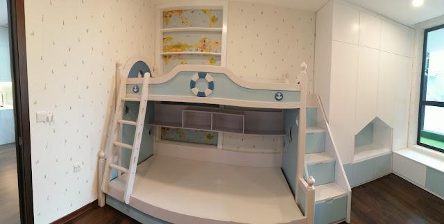 Hình ảnh căn hộ mẫu - Giường ngủ cho bé tại căn hộ DLC COmplex