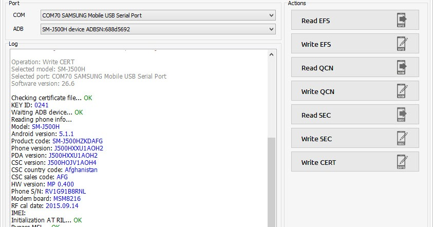 Samsung Galaxy SM-J500H Cert File Dual imei 100% - Gsm Monir