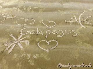 Galapagos written on Beach