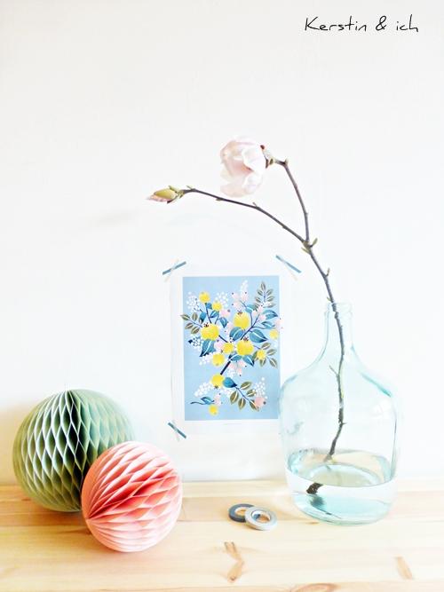 Magnolien Blumen pastellfarben Frühlingsdeko