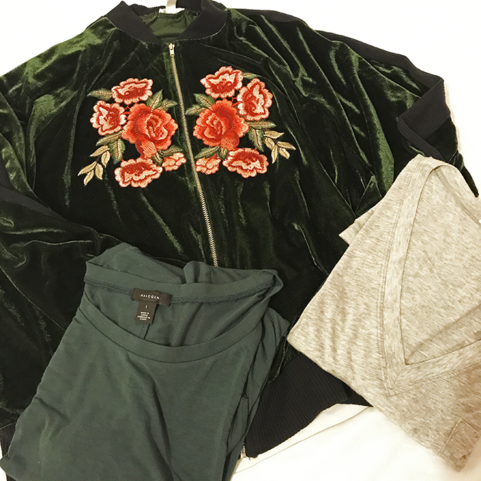 a style caddy, Nordstrom anniversary sale, Nordstrom sale, Nordstrom picks, Nordstrom budget picks, Nordstrom anniversary sale budget friendly, Nordstrom under $50, bp floral embroidered bomber, halogen long sleeve knit tunic, lush raw edge side slit tee, fall trends, fall fashion, fall style