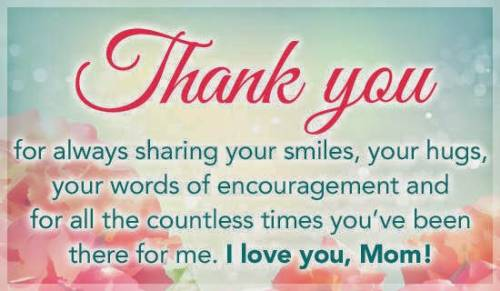 thank you mothers day message