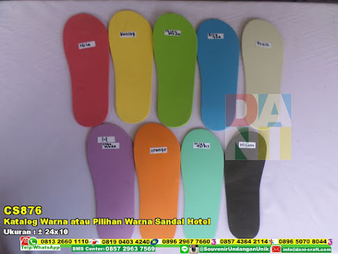 Katalog Warna Atau Pilihan Warna Sandal Hotel