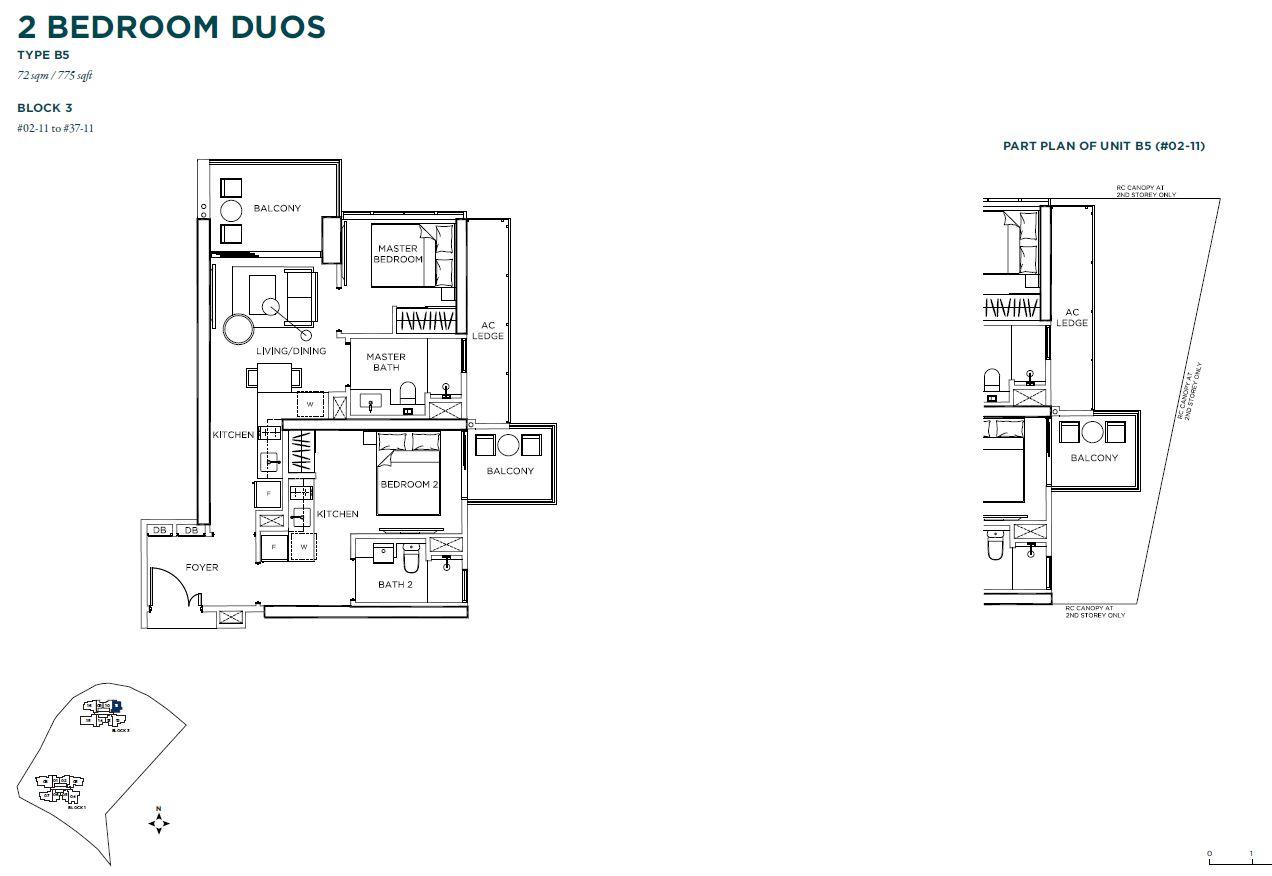 Gem Residences 2 bedroom trios
