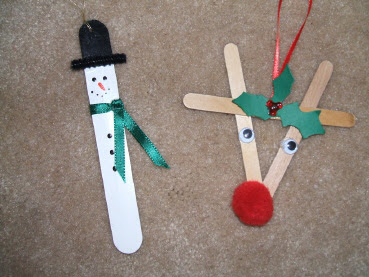 Craft Stick Ornaments 1