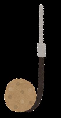 釣り針のイラスト(練り餌)