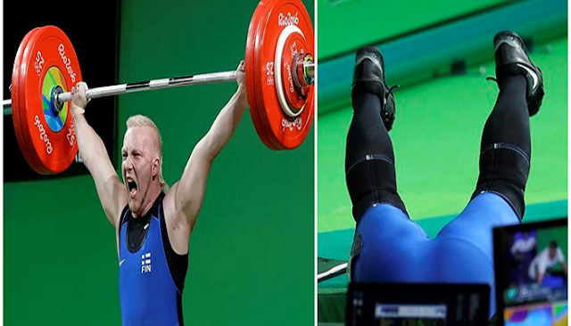 Se desmayó pesista finlandés tras levantar 175 kilos