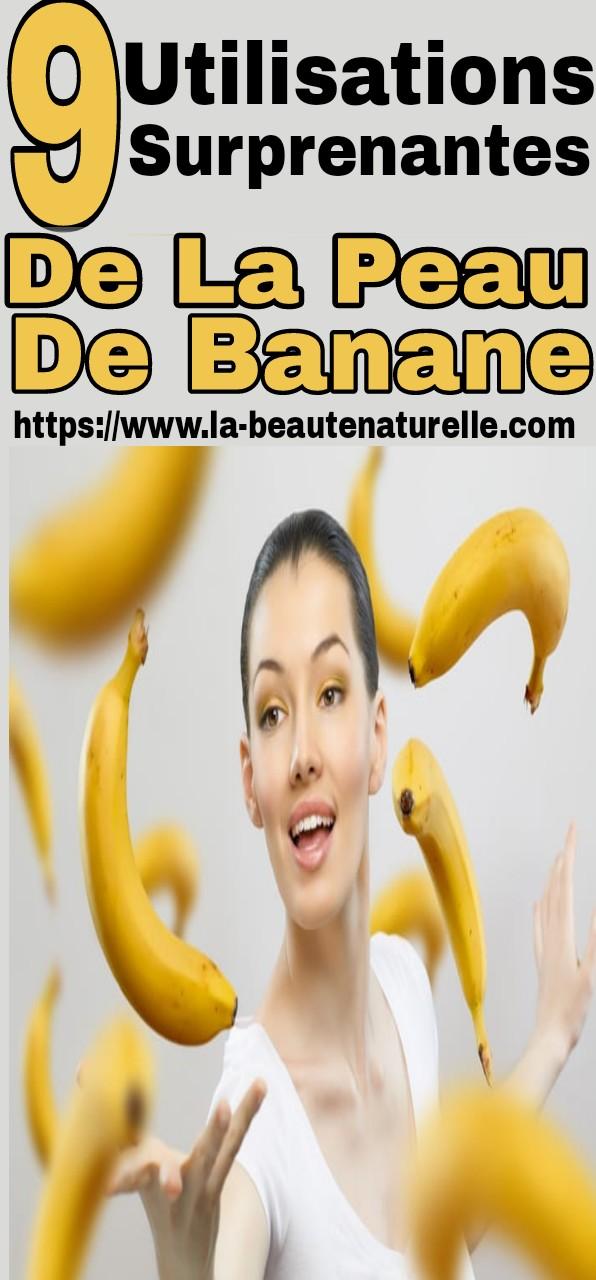 9 utilisations surprenantes de la peau de banane