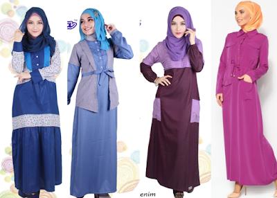 Model Baju Muslim Remaja Bahan Katun