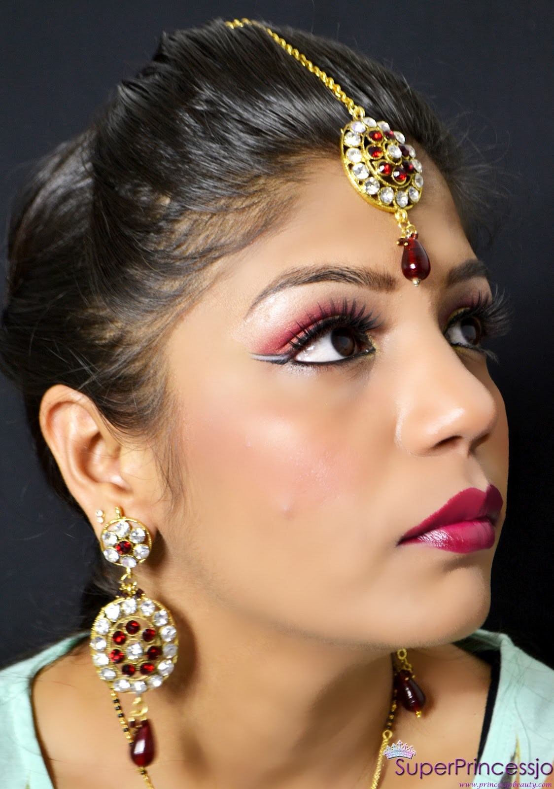 Makeup Video Tutorial: SuperPrincessjo : INDIAN BRIDAL WEDDING MAKEUP -RED GOLD
