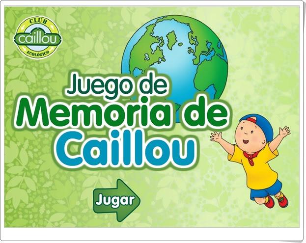 """Día Mundial del Medio Ambiente (5 de junio): """"Juego ecológico de memoria de Caillou"""""""