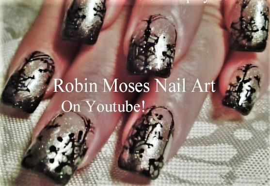 Nail Art By Robin Moses Snowflakes Using A Sponge Detailed Fun