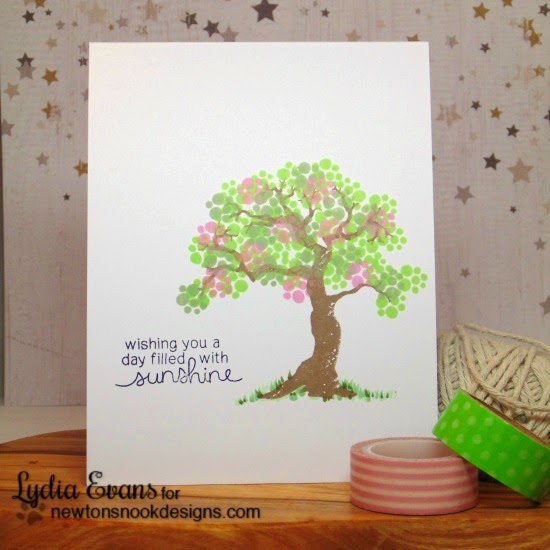Spring Tree card by Lydia Evans | Stamps by Newton's Nook Designs