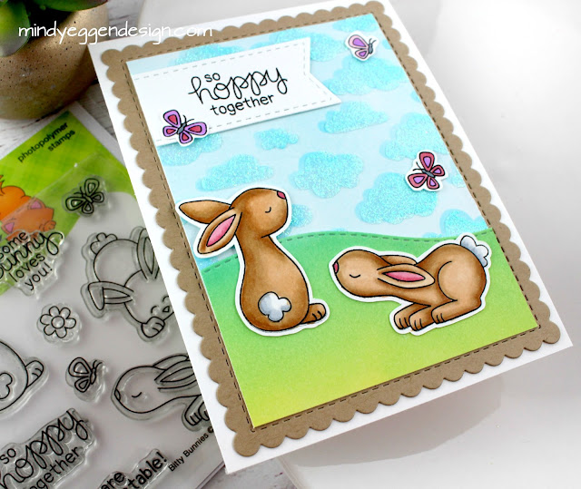 So Hoppy Together Bunny Card by March Guest Designer Mindy Eggen | Bitty Bunnies Stamp Set by Newton's Nook Designs #newtonsnook
