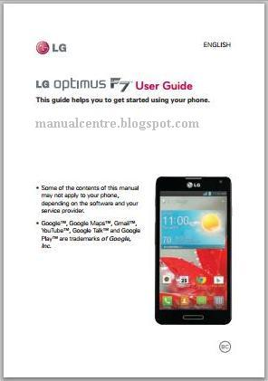 LG Optimus F7 Manual Cover