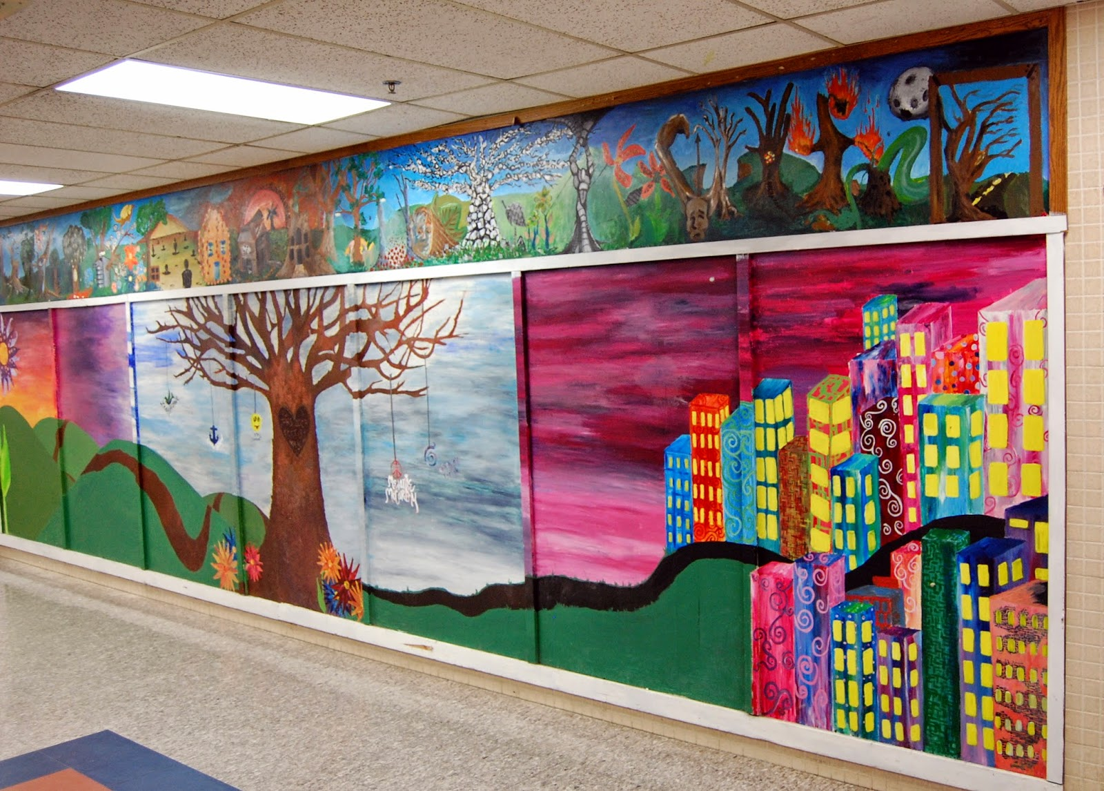 student art - full wall mural - view from the right