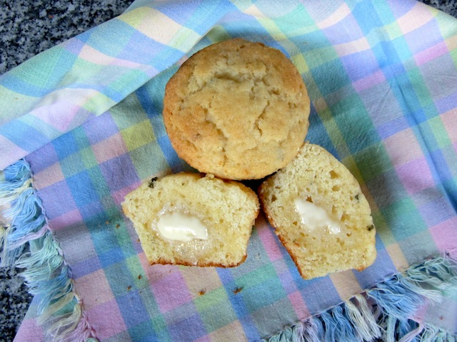 Food Lust People Love: These sweet honey thyme cornbread muffins are delicious as is, or slather them with butter and an extra drizzle of honey to serve. They make a great breakfast or snack.