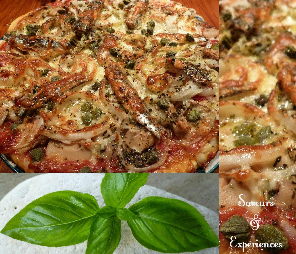 pizza aux anchois p te au basilic blogs de cuisine. Black Bedroom Furniture Sets. Home Design Ideas