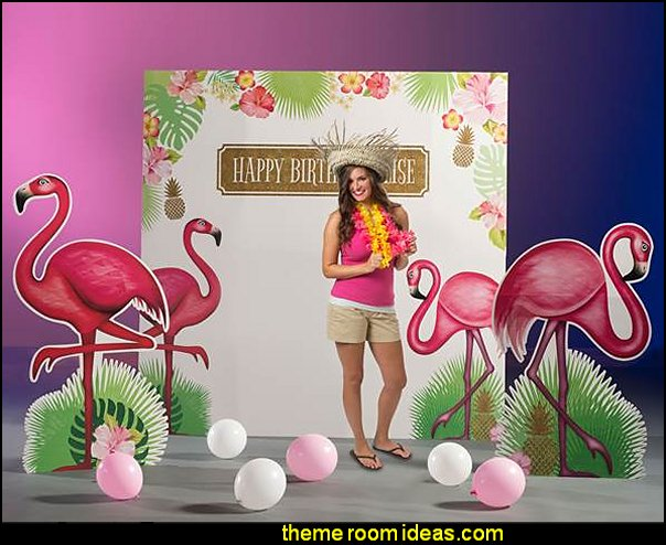 Let's Flamingo Quick Kit tropical party  Tropical party decorations - tropical party ideas - ALOHA Hawaii Luau Party Decorations - Luau Hawaiian Grass Table Skirt raffia Decorations - Hula Hibiscus Tropical Birthday Summer Pool Party Supplies - tiki party pineapple party decorations - beach party - Birthday party  photo backdrop - tropical themed cake decorations - beach tiki themed table decorations -  party props - summer party
