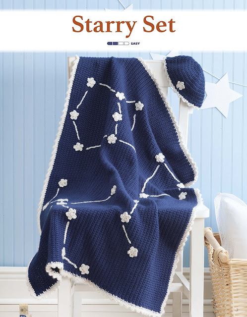 Starry Set Crochet Pattern by Sara Leighton of Illuminate Crochet