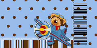 Pilot Bear: Free Printable Invitations.