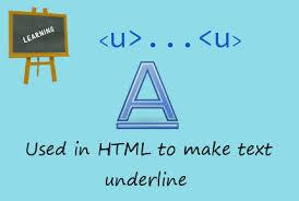 what is <u> tag