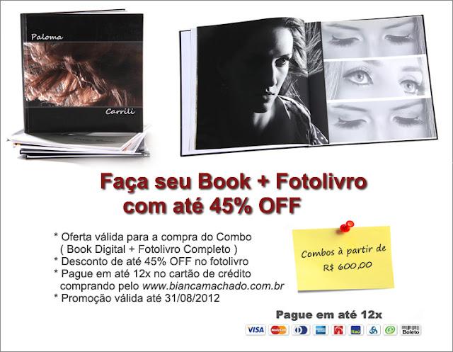 promoção book com fotolivro studio bianca machado