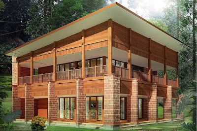 Desain Rumah Kayu Jati Mewah