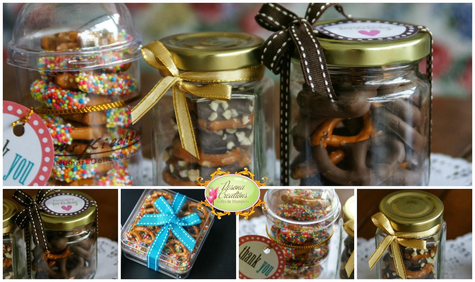 Contoh Door Gift: Pesona Creations Gifts & Hampers: Doorgift Chocolate Pretzels