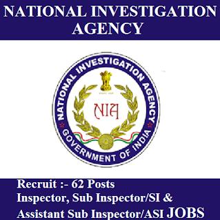 National Investigation Agency, NIA, freejobalert, Sarkari Naukri, NIA Admit Card, Admit Card, nia logo