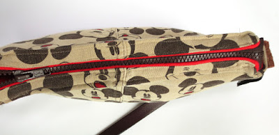 purse made out of Mickey Mouse pants