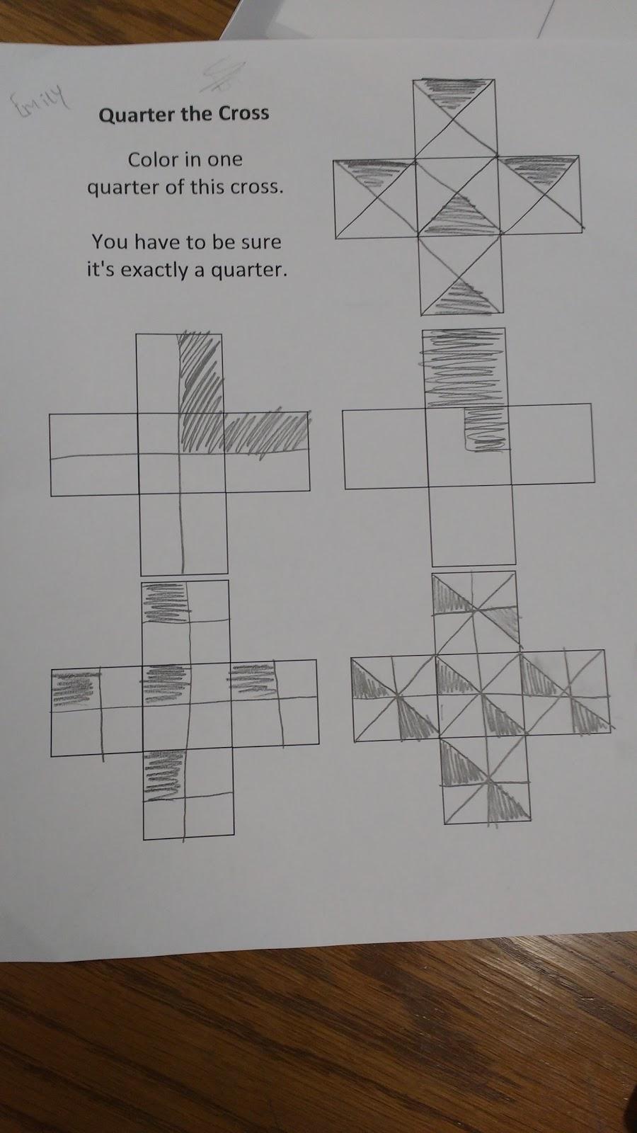 Math = Love: Quarter the Cross