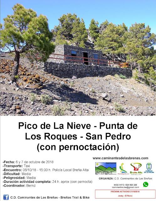 Caminantes de Las Breñas, 6 y 7 de octubre: Pico de La Nieve - Punta de Los Roques - San Pedro