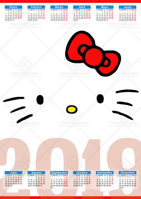 calendario de Hello Kitty