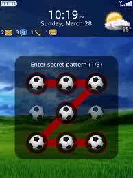 La aplicación, básicamente, permite a los usuarios bloquear sus teléfonos dibujando un patrón de líneas en un intervalo de tres puntos.La próxima vez que desee desbloquear su teléfono, debera usar el mismo patrón que entraron, cualquier otro patrón u orden de no abrira el dispositivo. Requerimientos del Sistema: Sistema Operativo 5.0 o Superior. Descargar Pattern Lock for Blackberry v.1.2 via AppWorld aqui Nota: Solo para dispositivos con pantalla tactil.